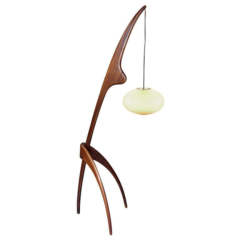 large 1960s praying mantis table lamp at 1stdibs. Black Bedroom Furniture Sets. Home Design Ideas