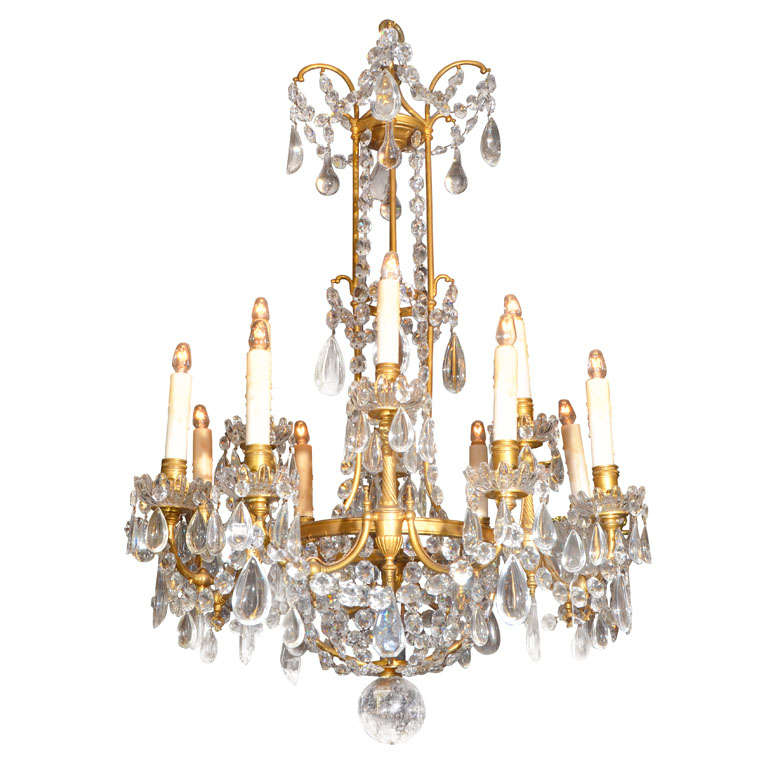 Baccarat Crystal Chandelier At 1stdibs