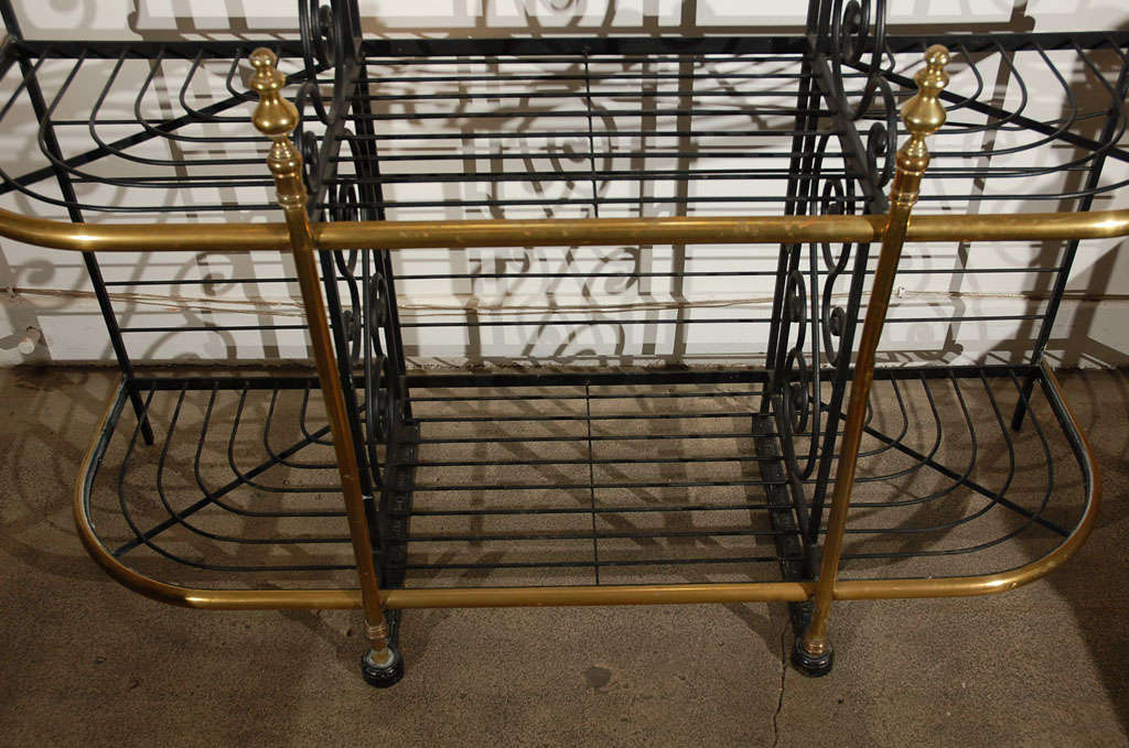 19th century Original Vintage French Baker's Rack 5