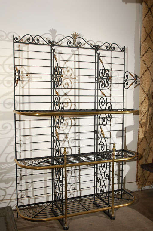 19th century Original Vintage French Baker's Rack 8