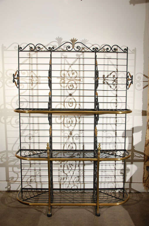 19th century Original Vintage French Baker's Rack 2