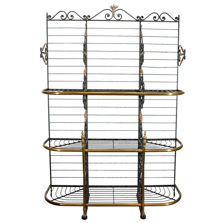 19th century Original Vintage French Baker's Rack 1