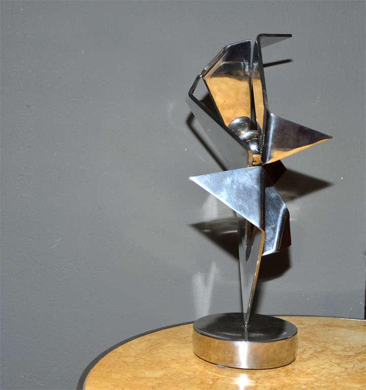 Metal Sculpture, Signed by Rosette Bir For Sale