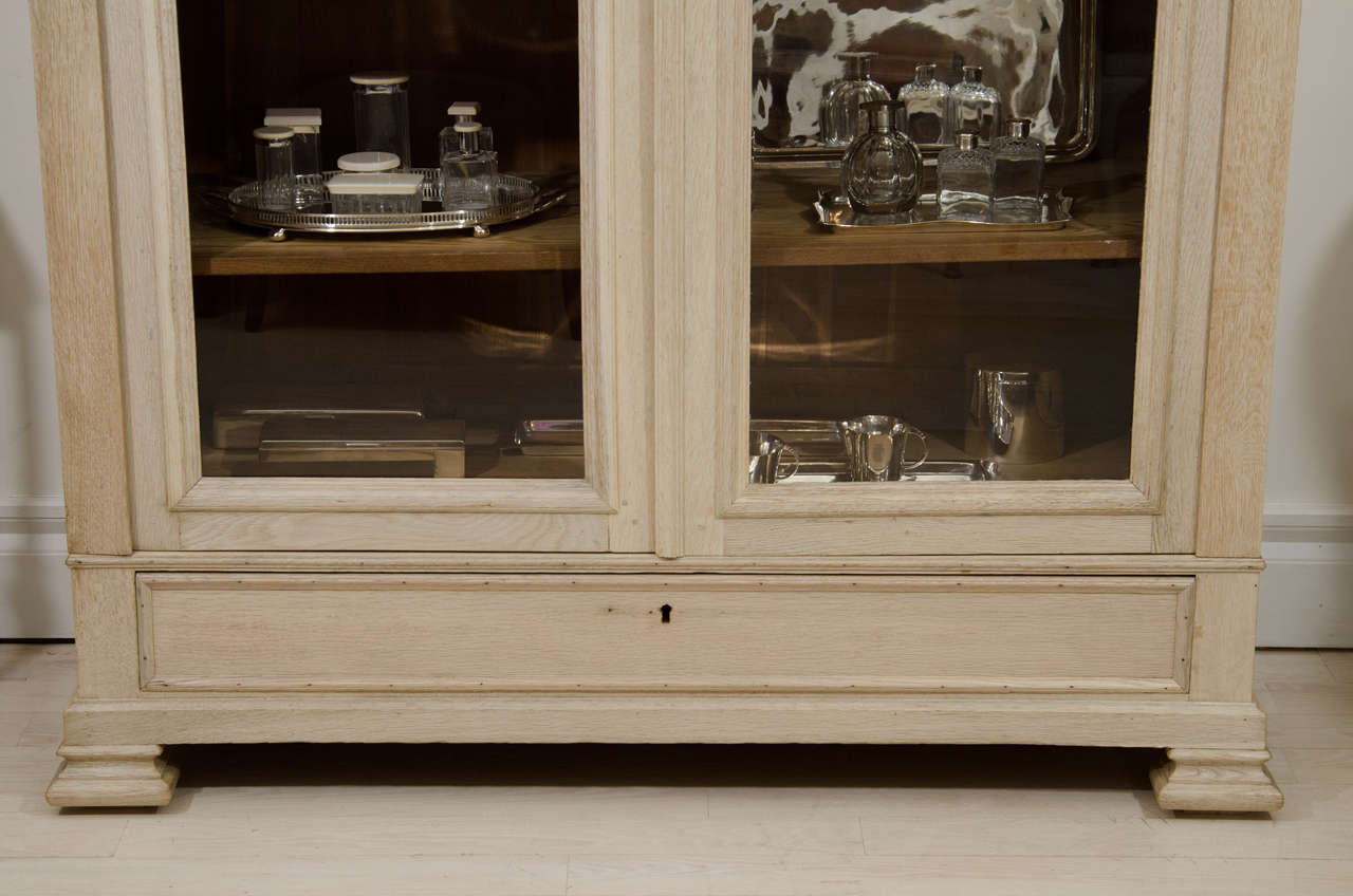 Bleached Oak French Two-Door Cabinet at 1stdibs