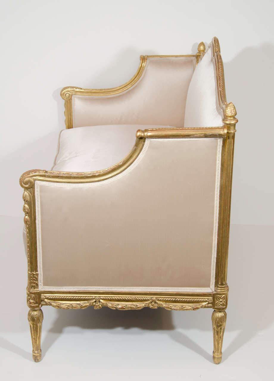 Antique French Louis Xvi Style Carved Giltwood Loveseats For Sale At 1stdibs