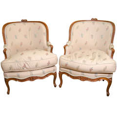 Pair of Louis XV Bergeres