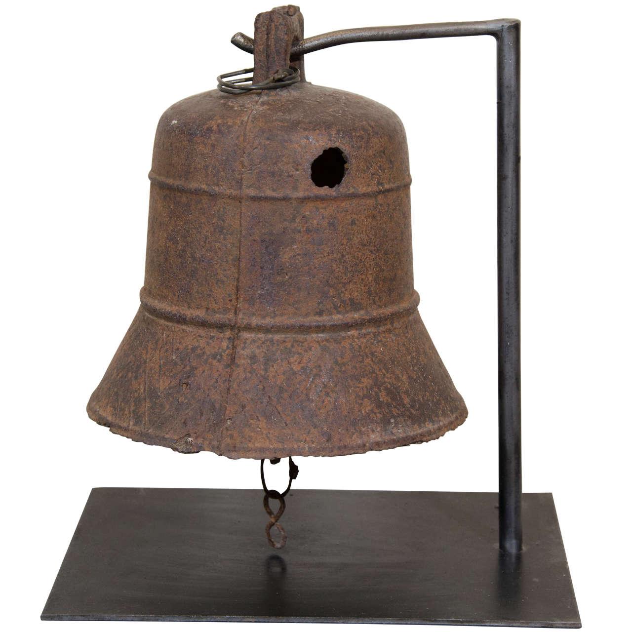 19th Century Cast Iron Temple Bell