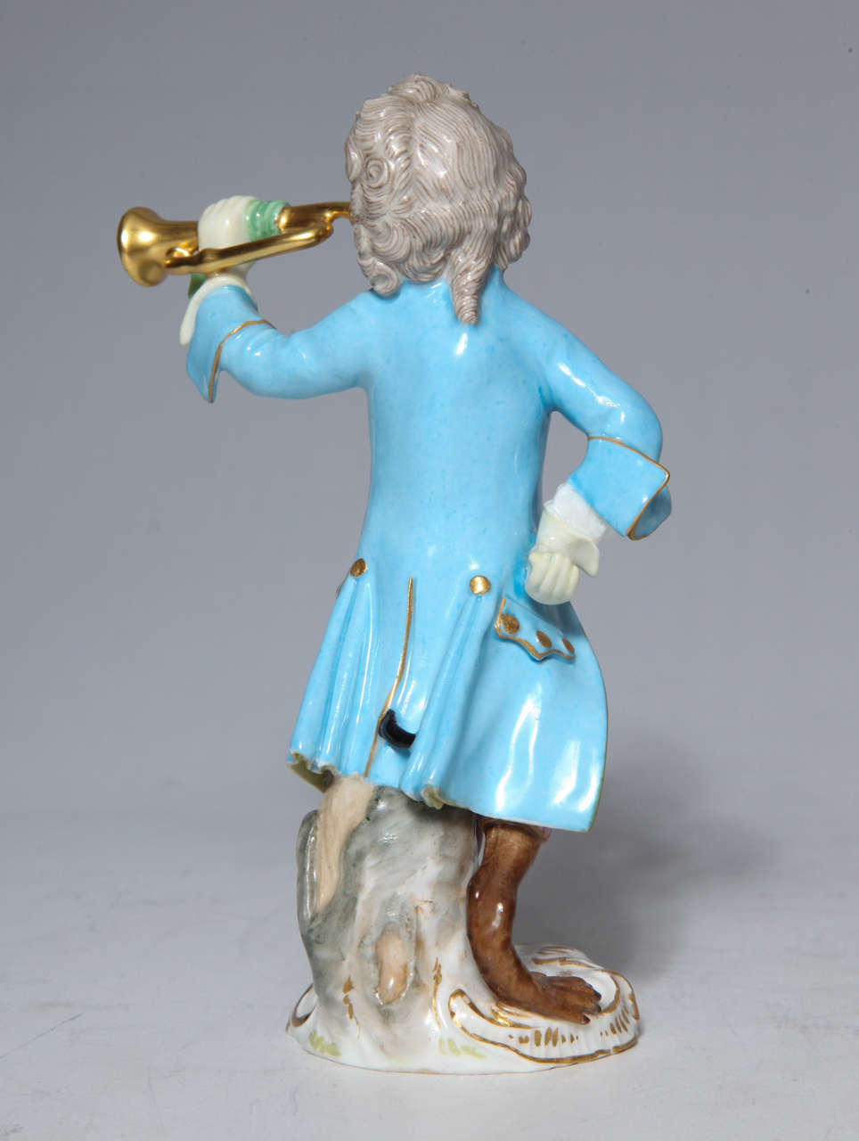 19th Century Early Meissen Porcelain, Singerie Style Monkey Musician Figurine For Sale
