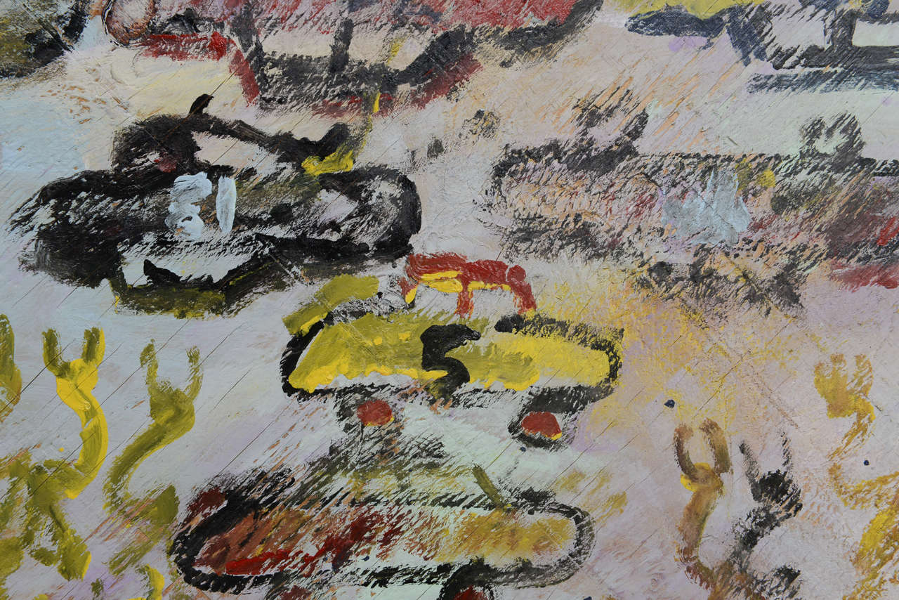 Wood Unique Purvis Young Cars Series Painting 1980s For Sale