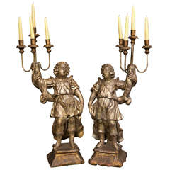 Italian Carved Gilt Candelabra