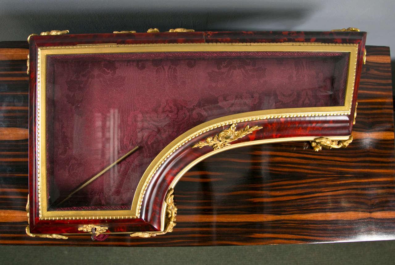 Antique Tortoise Shell Piano ShapeTable Top Vitrine For Sale 1