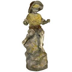 Stone Statue of a Boy