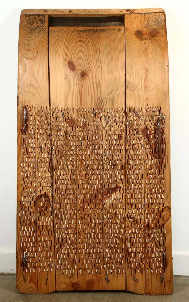 Primitive Wooden Grain Wheat Thresher At 1stdibs