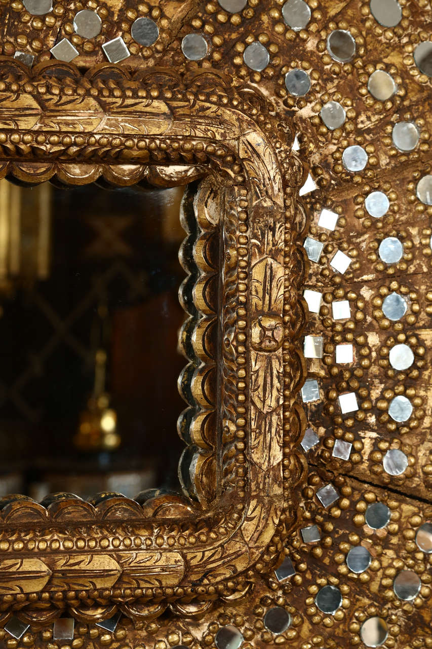 Gilt Wood Peacock Mirror 4