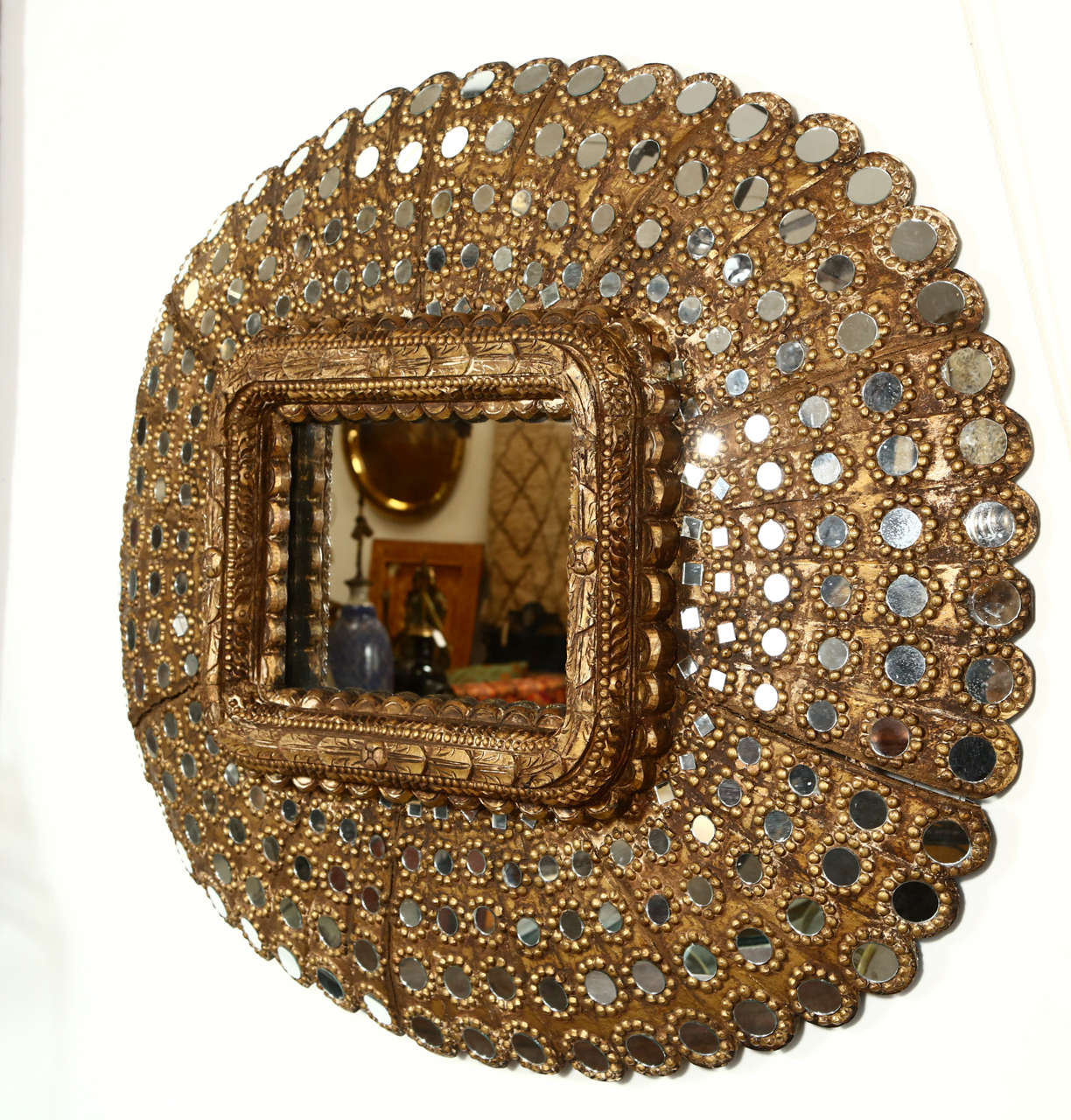 Gilt Wood Peacock Mirror 5