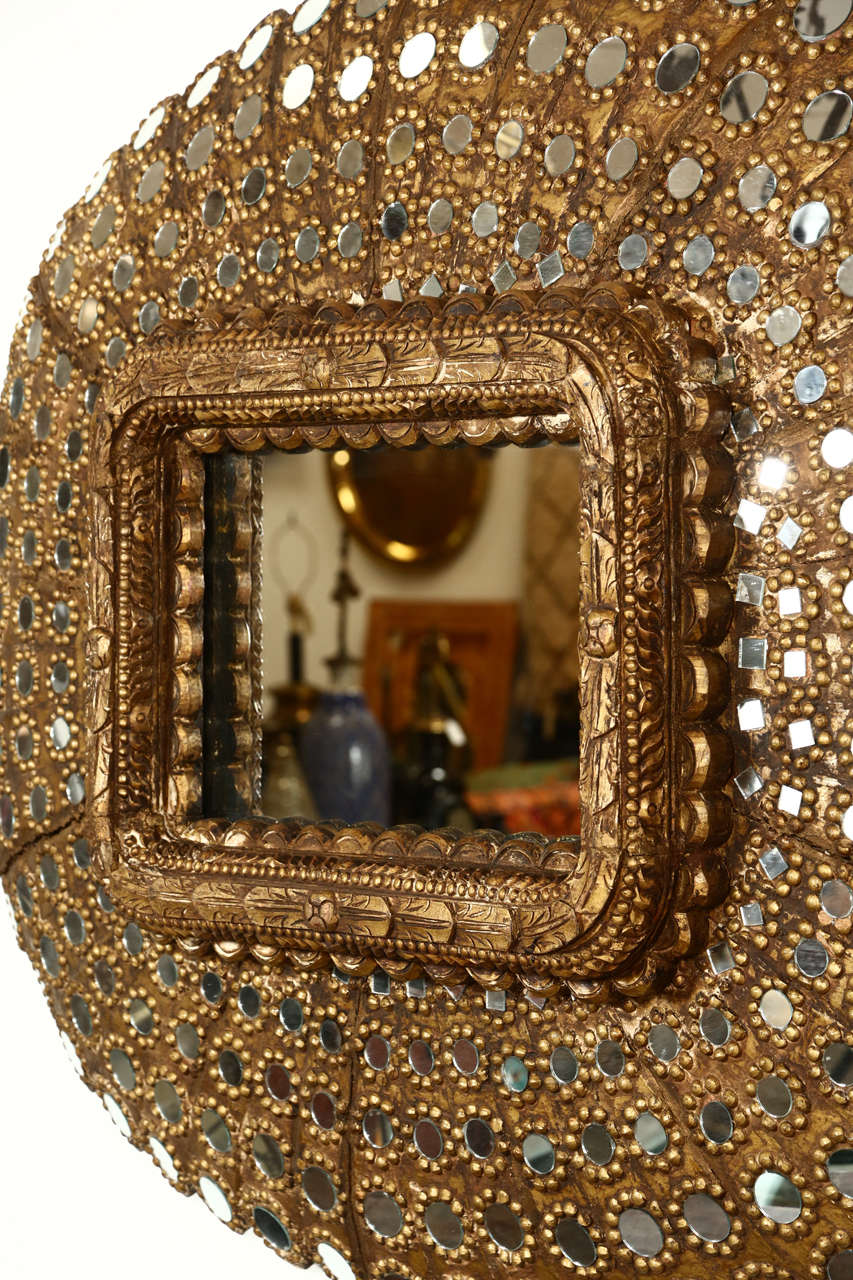 Gilt Wood Peacock Mirror 6