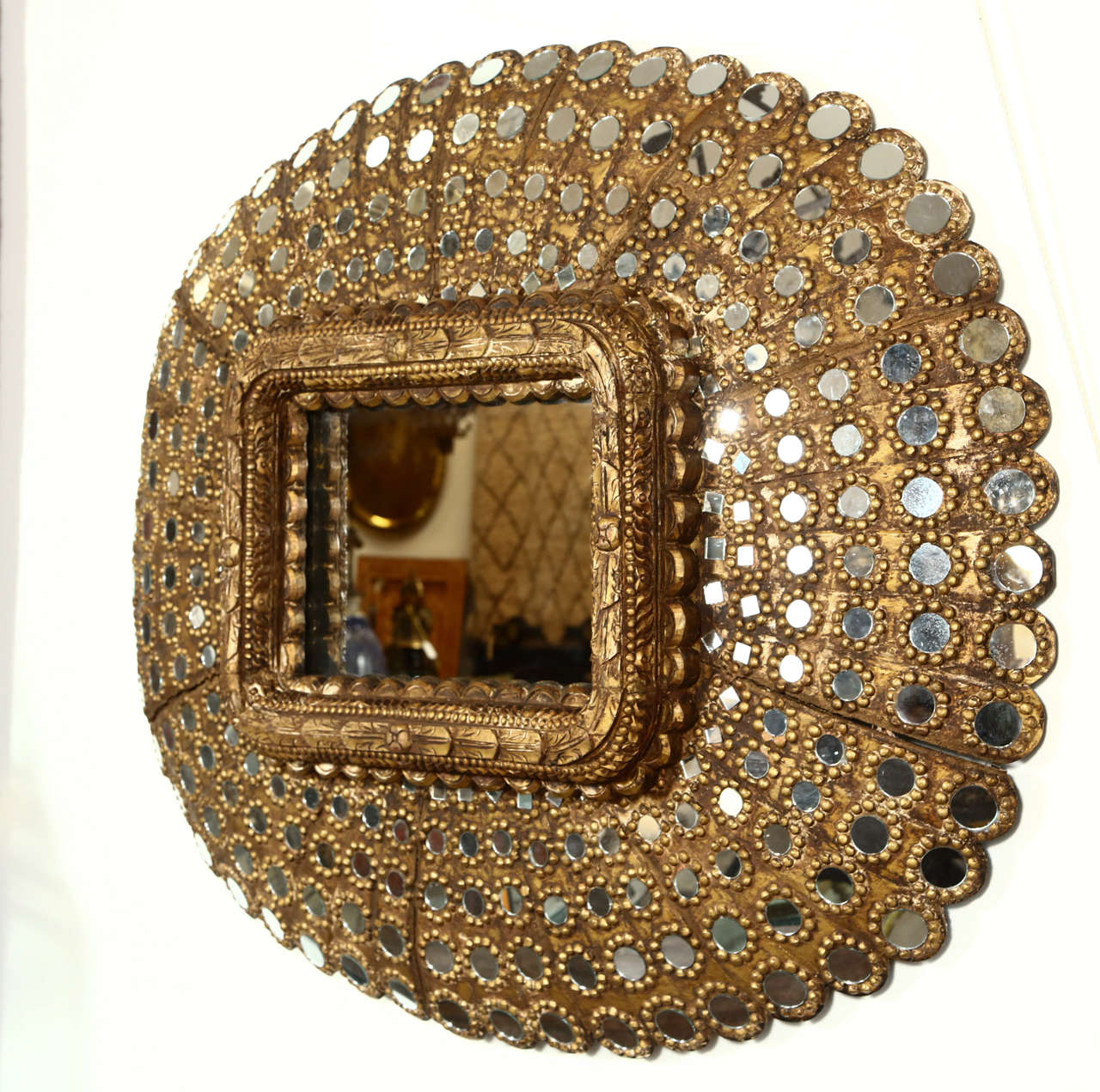 Gilt Wood Peacock Mirror 10