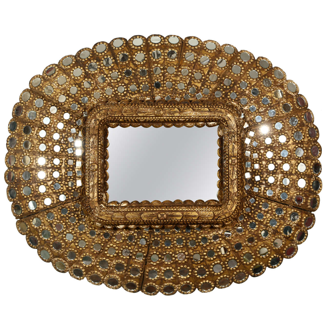 Gilt Wood Peacock Mirror 1