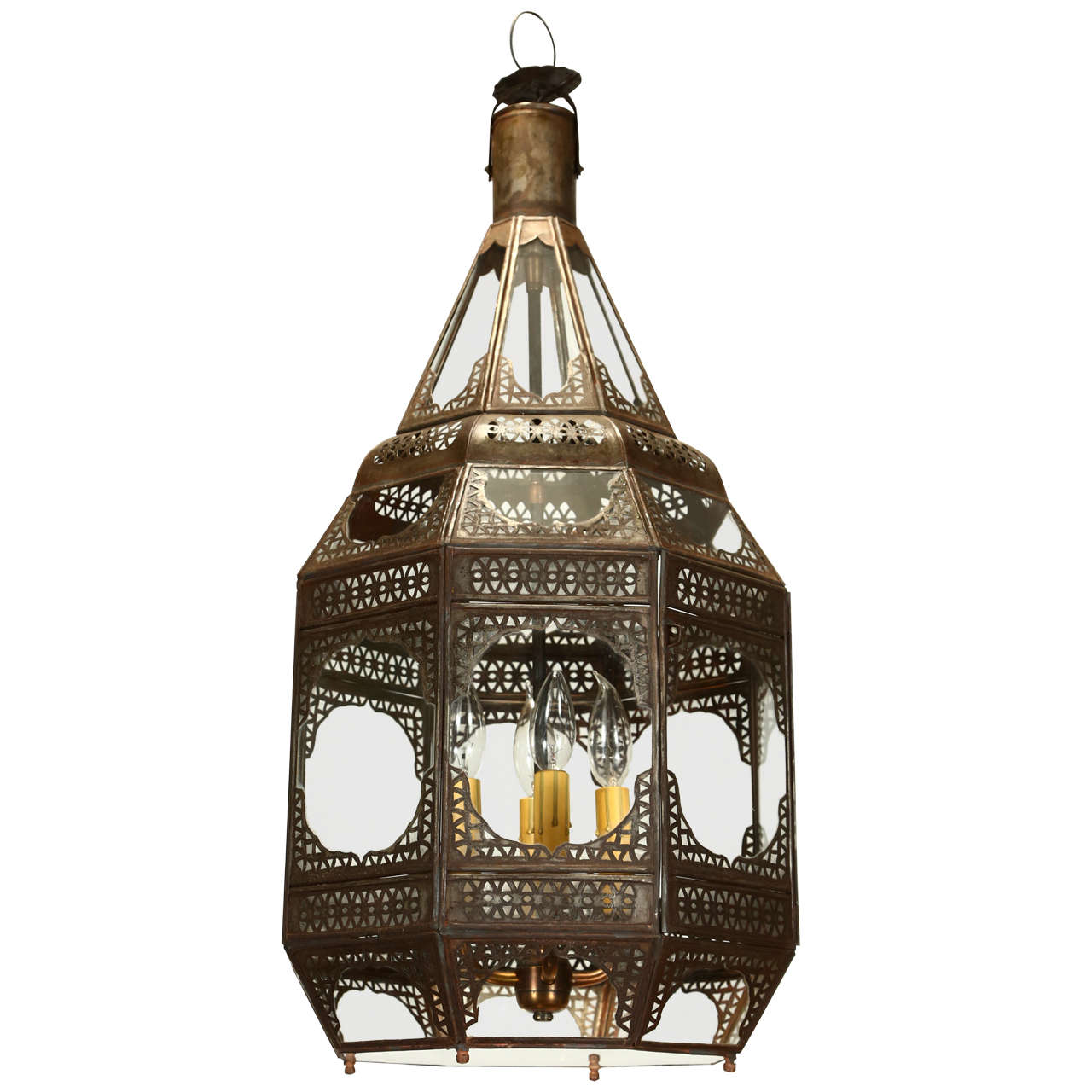 Moroccan Clear Glass Lantern at 1stdibs