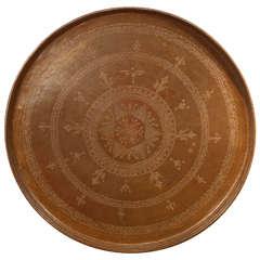 Turkish Bronze Round Tray