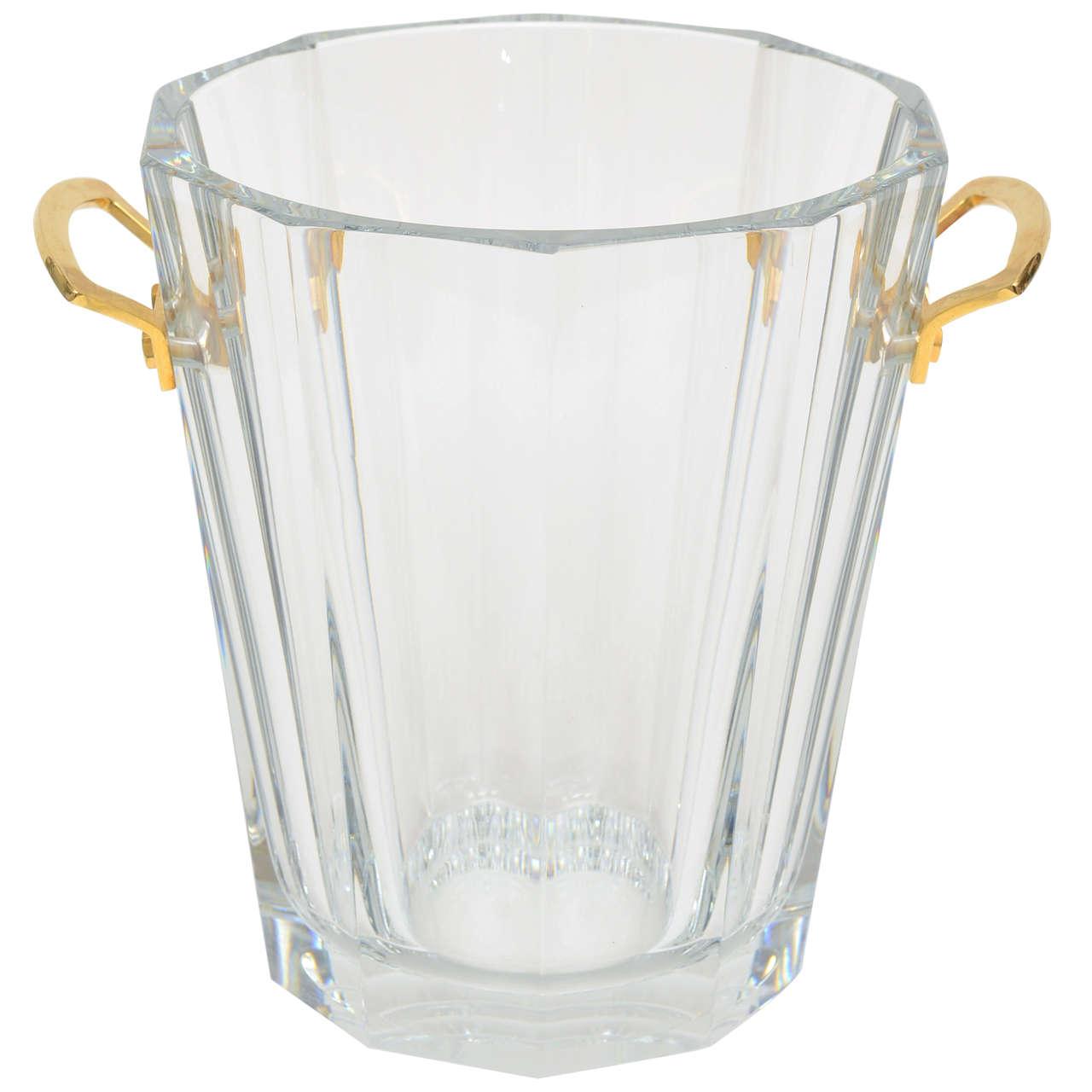 rare maxim vintage french crystal bronze baccarat champagne or  - rare maxim vintage french crystal bronze baccarat champagne or ice bucket