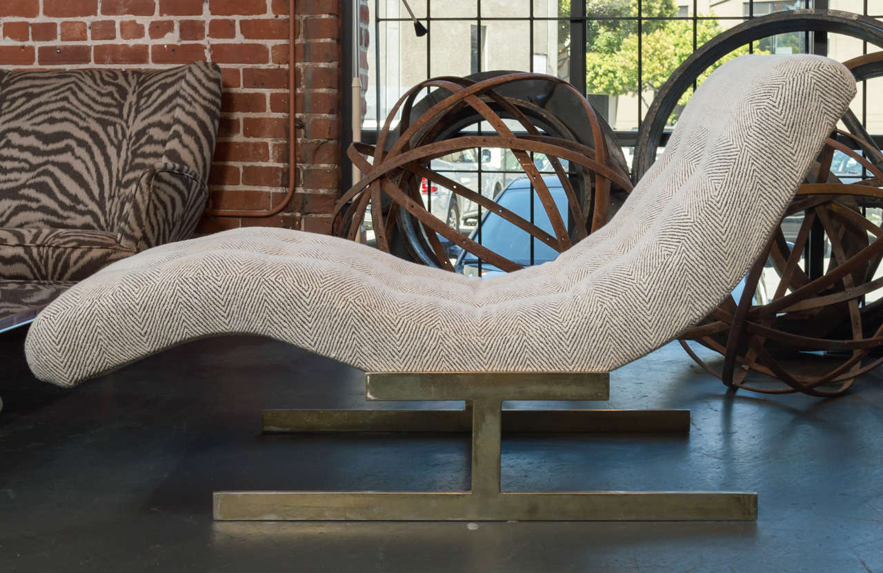 Sculptural wave chaise lounge at 1stdibs for Bernard chaise lounge