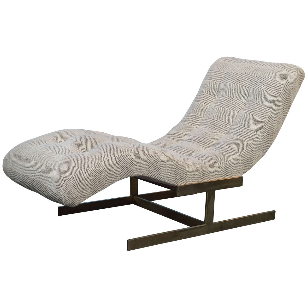 Sculptural Wave Chaise Lounge at 1stdibs
