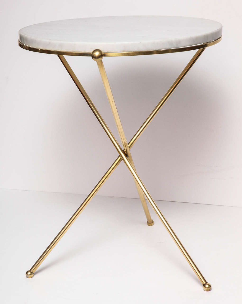 Tripod Brass And Marble Side Table 2