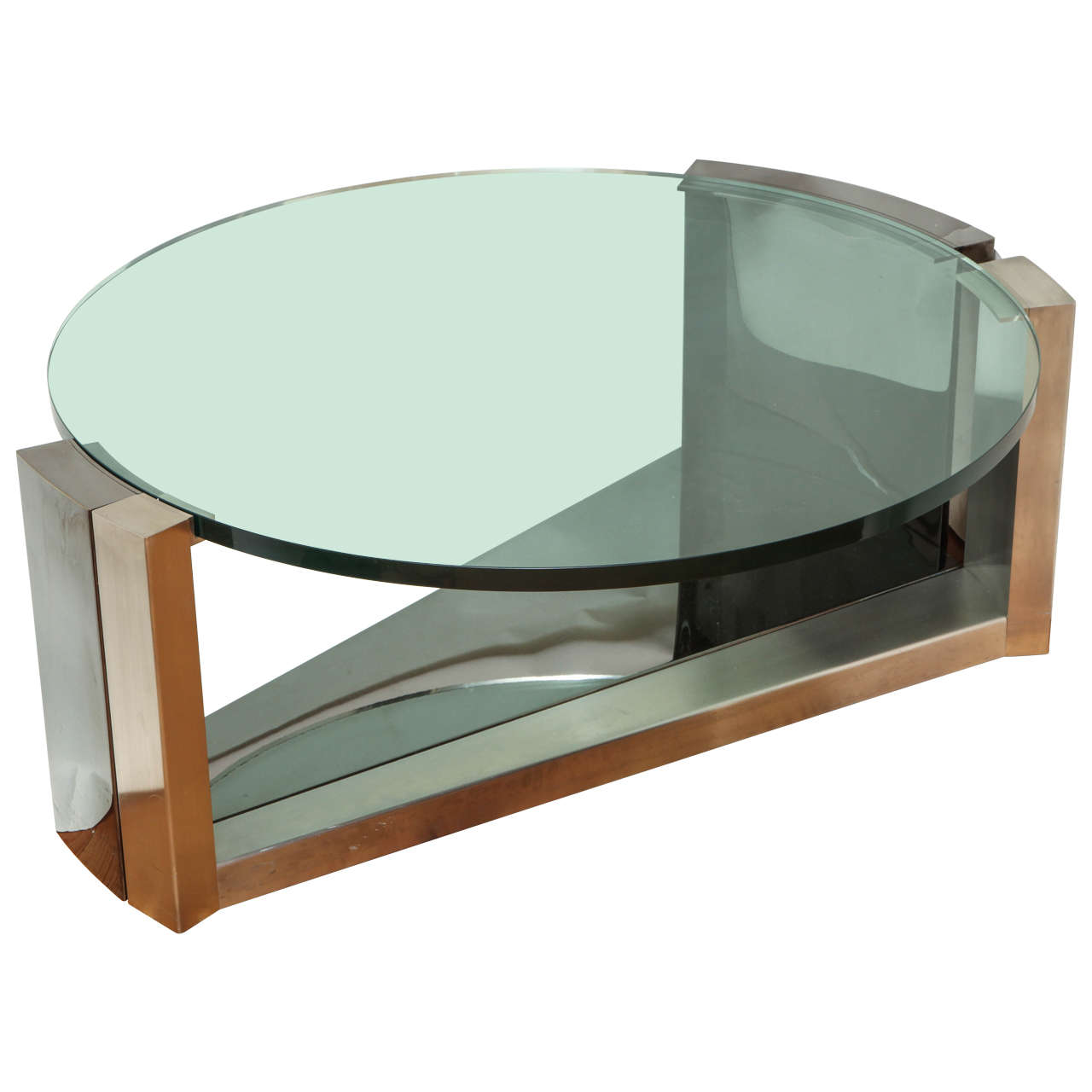 Contemporary design round coffee table for sale at 1stdibs for Round contemporary coffee table