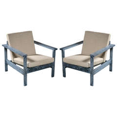Pair of Cerused Chairs