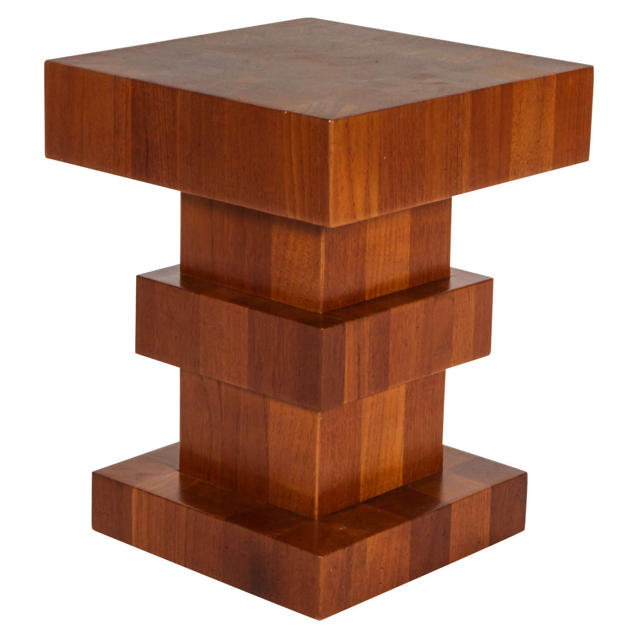 "Unusual Side Tables Unusual Wood Block Side Table Signed ""tsao Hong Kong"" For Sale At"