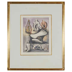 """""""Seven Sculpture Ideas II"""" Etching and Aquatint by Henry Moore"""