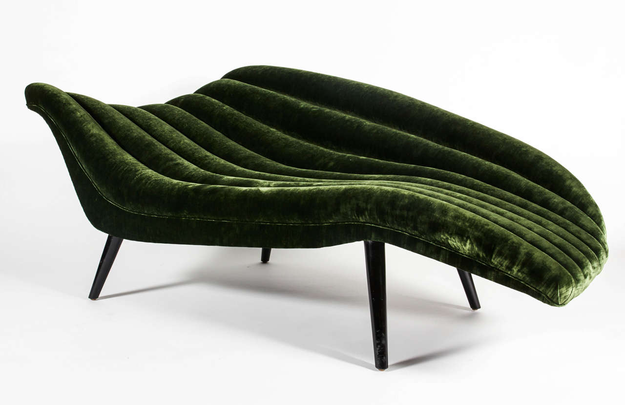 Stunning elegant hans hartl chaise longue with chaise schmidt for Chaise schmidt