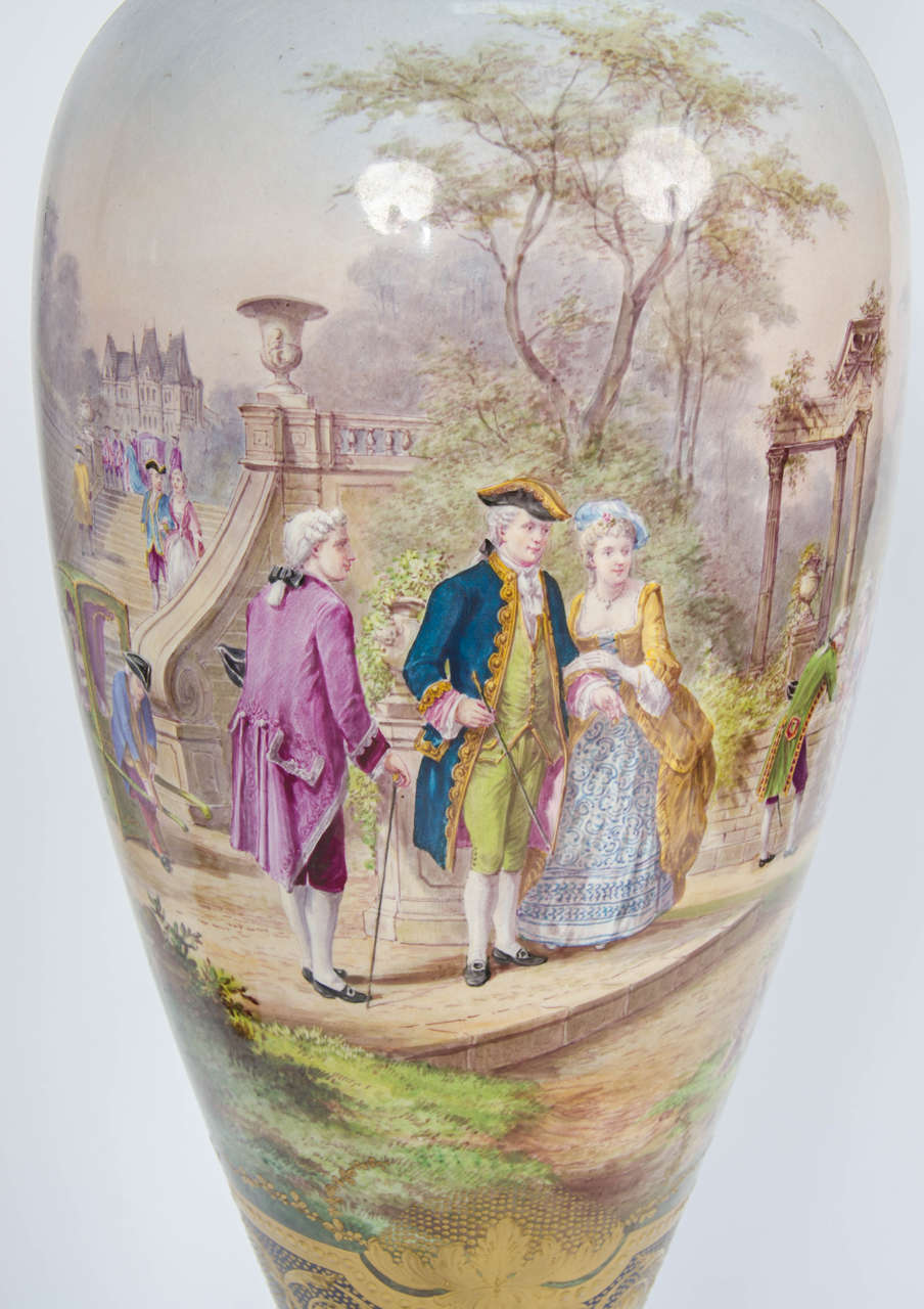 Late 19th Century Pair of Antique Sèvres Vases For Sale