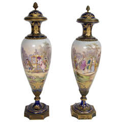 Pair of Antique Sèvres Vases