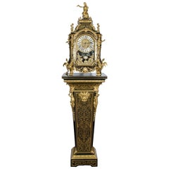 Louis XV style Boulle Clock on pedestal, 19th Century