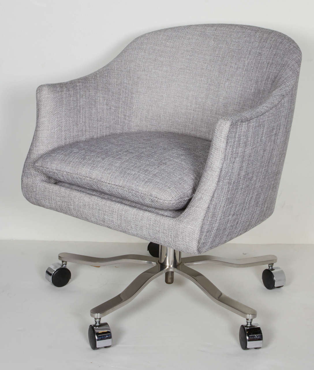 American Mid-Century Modern Swivel Desk Chair Designed by Ward Bennett For Sale