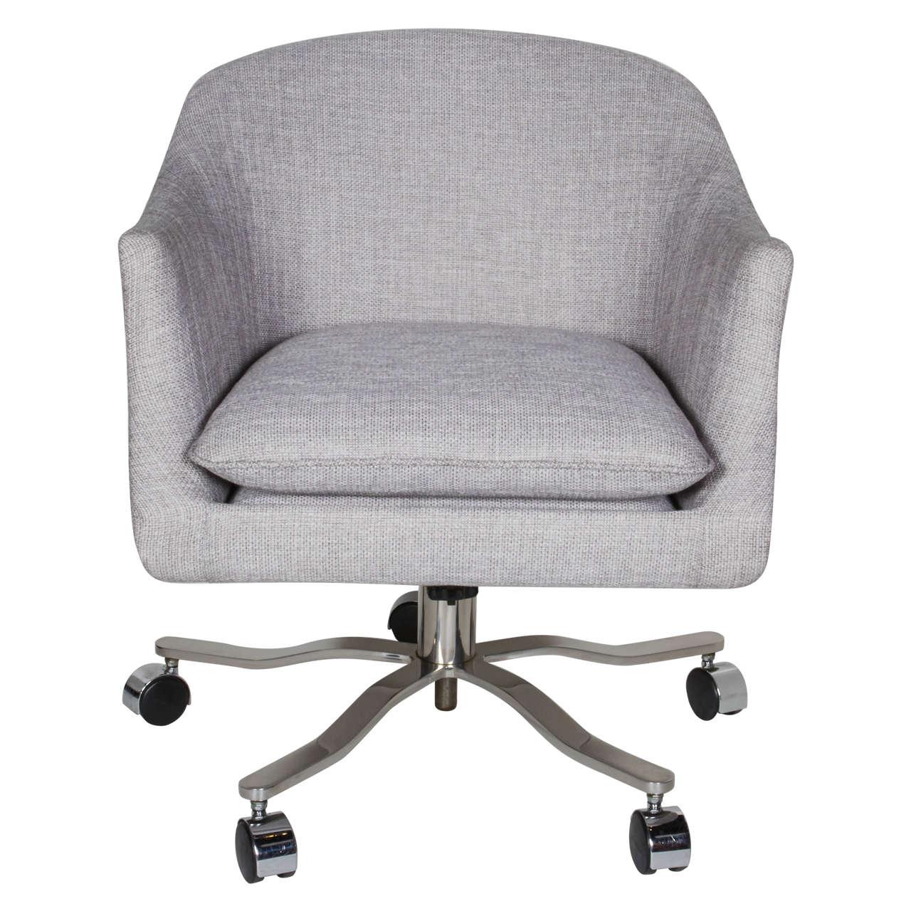 Mid-Century Modern Swivel Desk Chair Designed by Ward Bennett For Sale