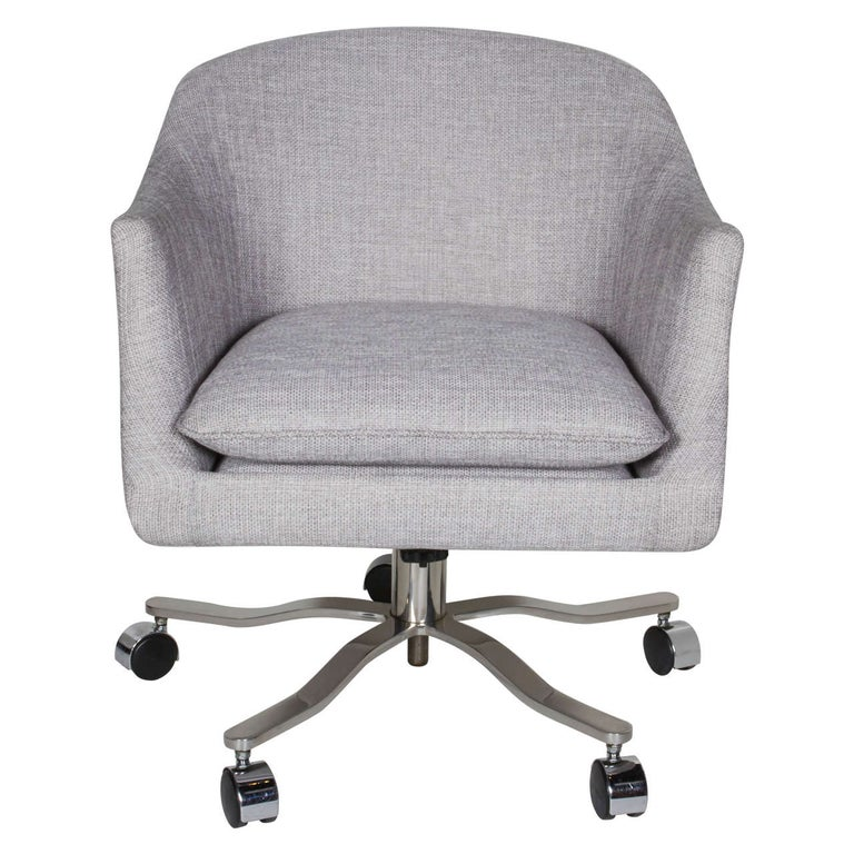 Mid-Century Modern Swivel Desk Chair Designed by Ward Bennett 1