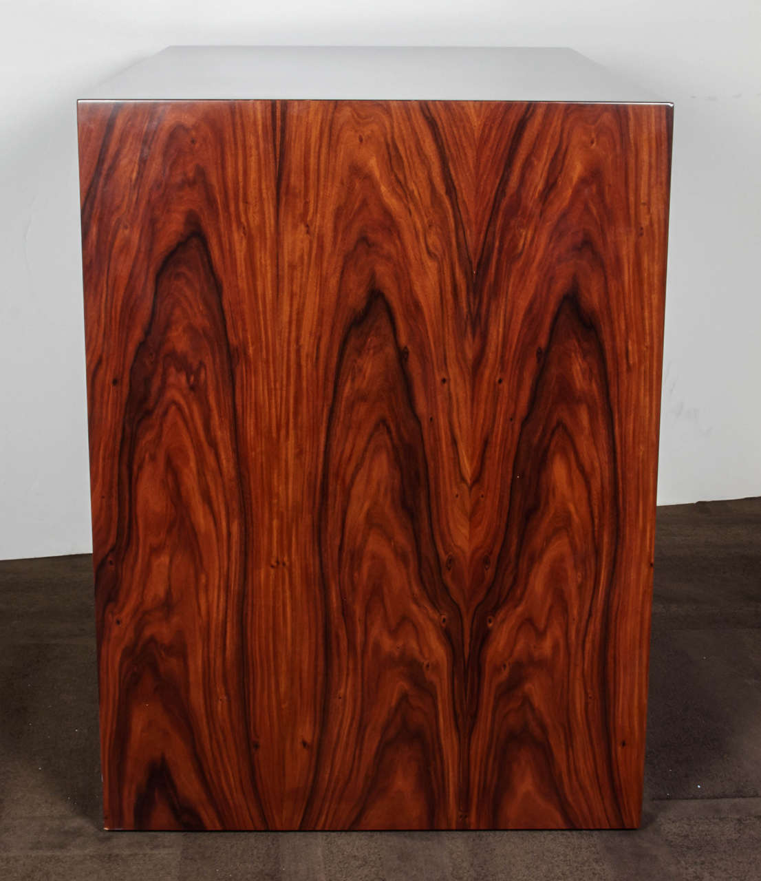 American Pair of Vintage Rosewood Dressers with Parchment Accents For Sale