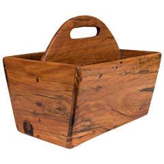 A Midcentury Wooden Magazine Basket