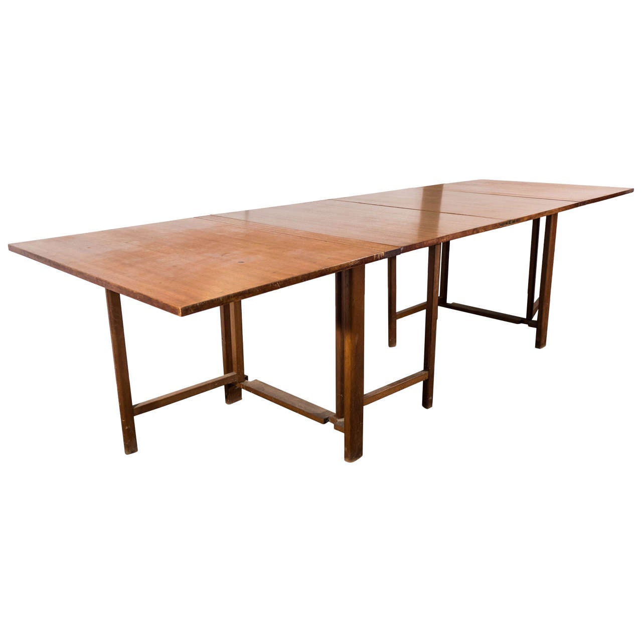Midcentury quotMariaquot Folding Gateleg Dining Table by Bruno  : X from www.1stdibs.com size 1280 x 1280 jpeg 52kB