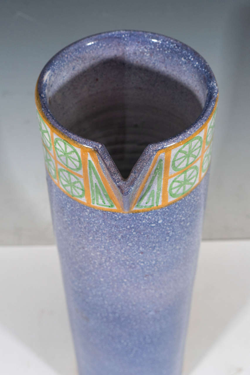 A Midcentury Spanish Ceramic Pitcher by Alfaraz In Good Condition For Sale In New York, NY