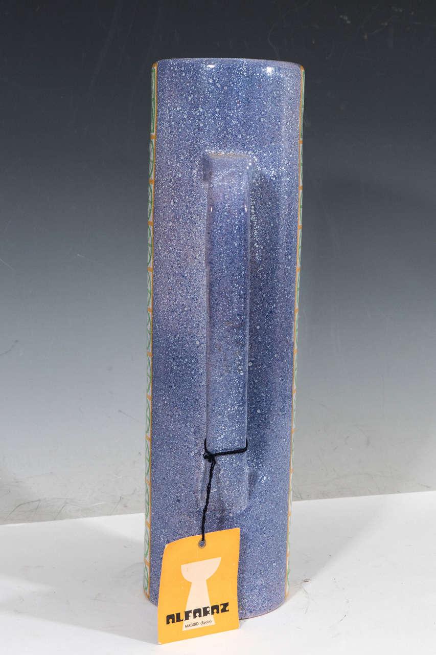 20th Century A Midcentury Spanish Ceramic Pitcher by Alfaraz For Sale