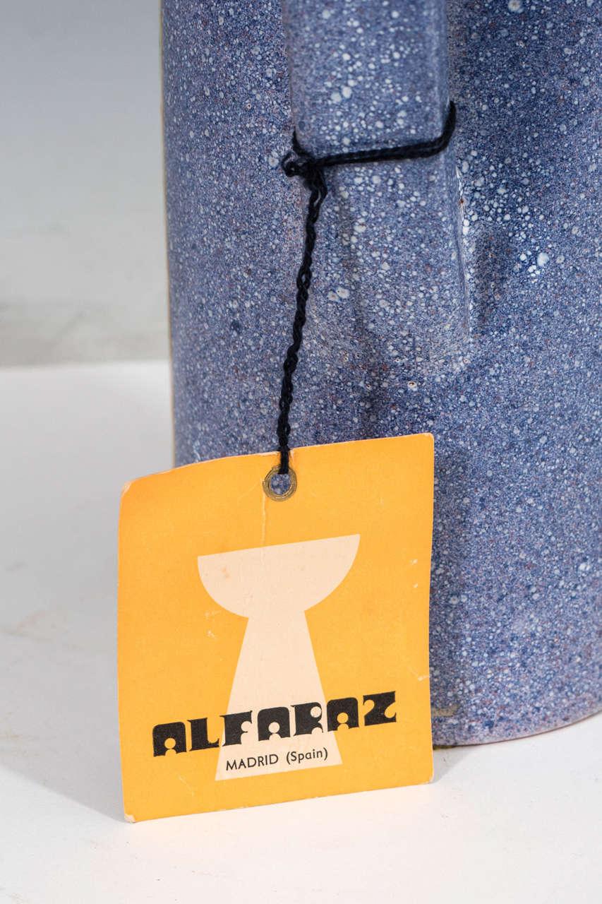 A Midcentury Spanish Ceramic Pitcher by Alfaraz For Sale 1