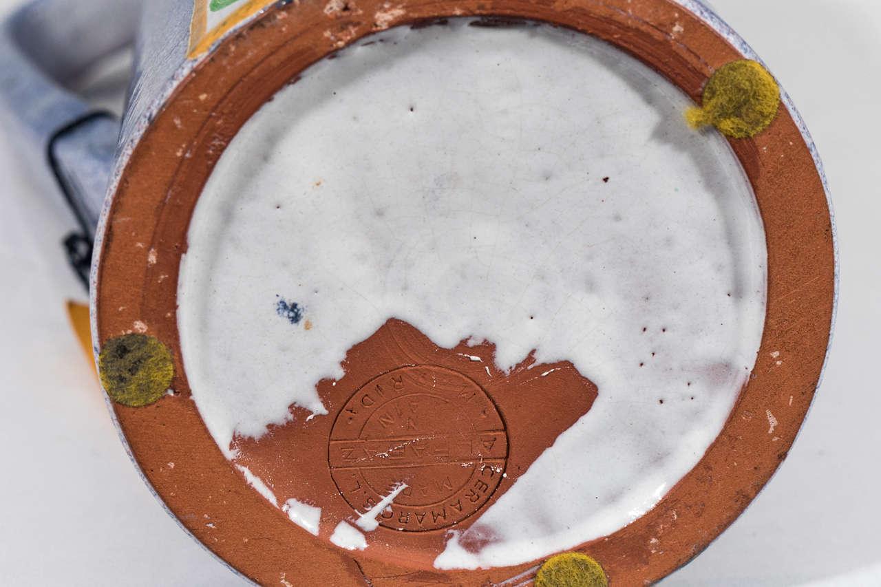 A Midcentury Spanish Ceramic Pitcher by Alfaraz For Sale 2