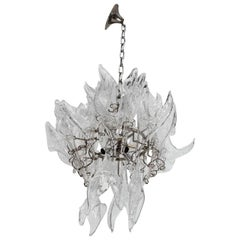 A Midcentury Murano Glass Chandelier