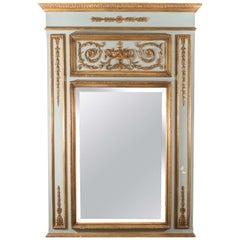 Hollywood Regency Italian Neoclassical Style Trumeau Wall Mirror