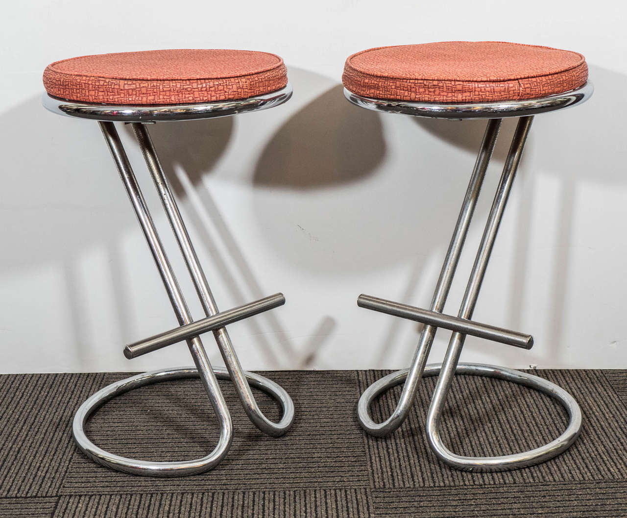 A Pair Of Troy Sunshade Art Deco Quot Z Quot Stools In The Style