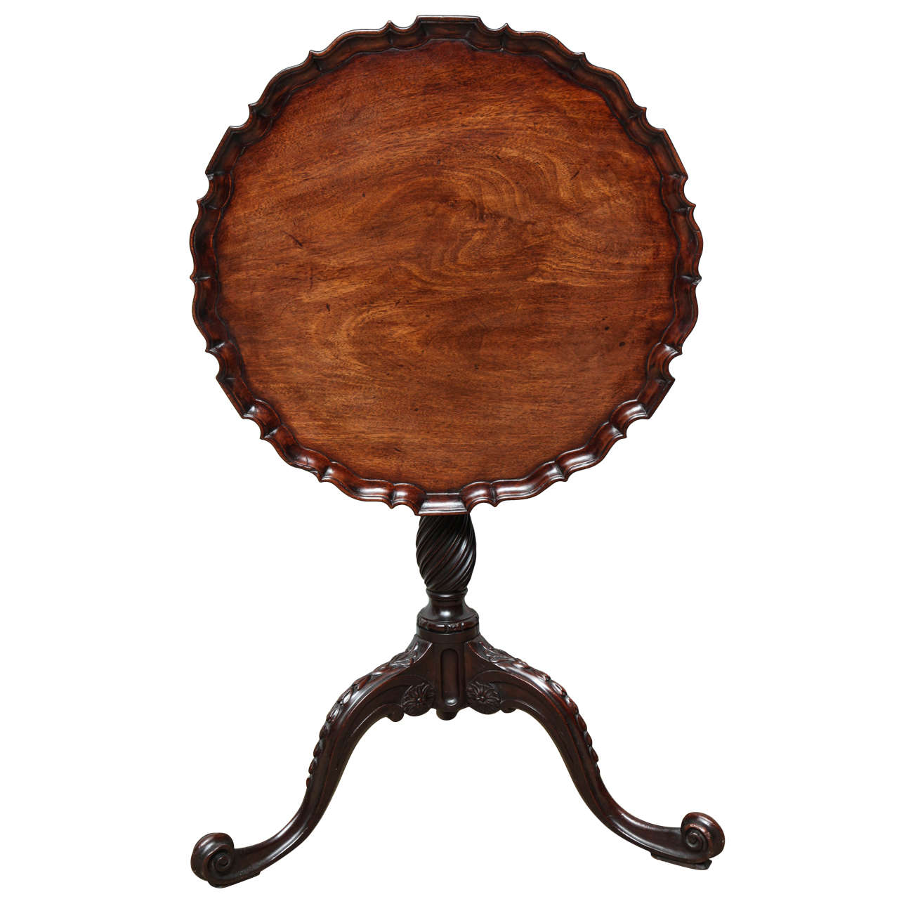 George Iii Piecrust Birdcage Tilt Top Table For